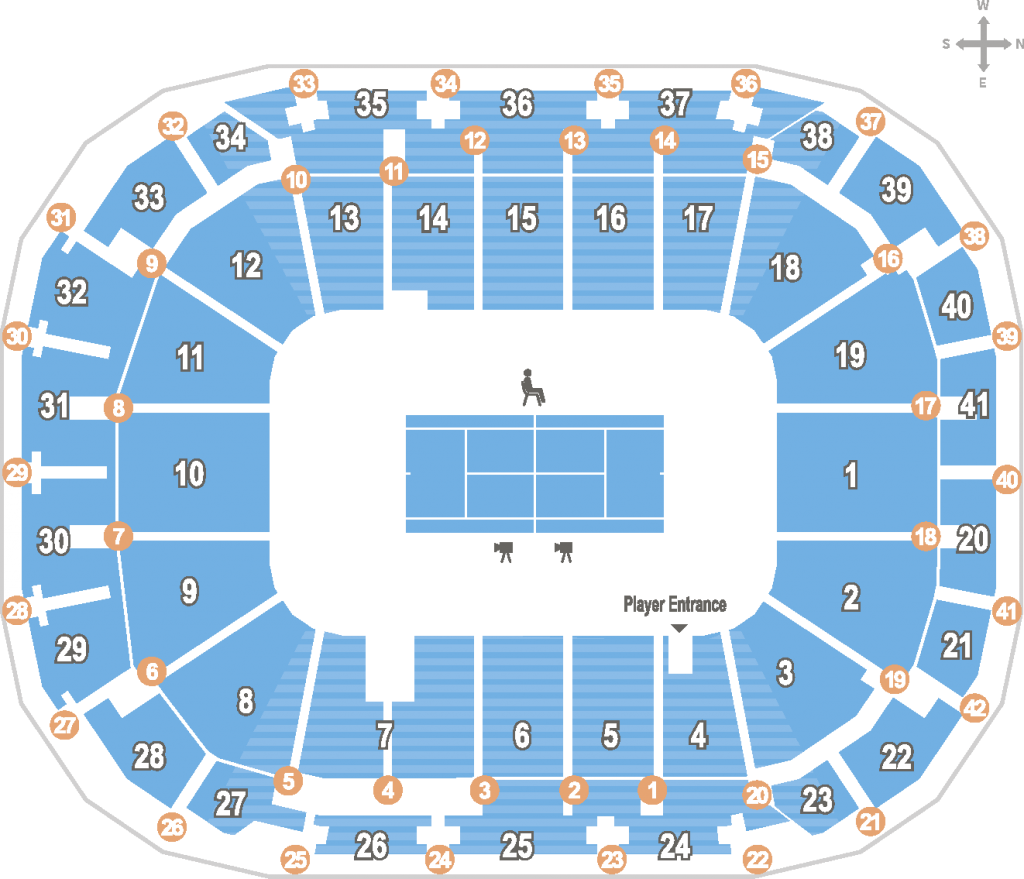 Схема Margaret Court Arena